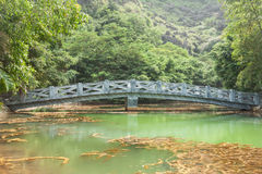 Bridge in Hang Mua Touristic Area Stock Photo