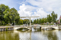 Bridge in Harlingen Royalty Free Stock Photo