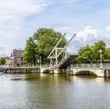 Bridge in Harlingen. Draw bridge in Harlingen under blue cloudy sky Royalty Free Stock Images