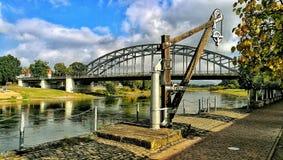 Bridge harp Germany. Rinteln Weser Germany Bridge Royalty Free Stock Photography