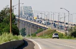Bridge with a heavy traffic Stock Photo
