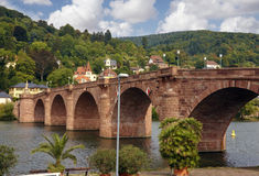 Bridge in heidelberg germany Royalty Free Stock Photos