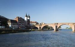 Bridge in Heidelberg. Image shows an old bridge over the river Neckar in Heidelberg royalty free stock images