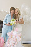 Bridge And Her Mother Holding Gift Box Stock Image