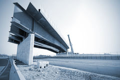 Bridge on highway Royalty Free Stock Photo