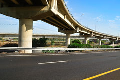 Bridge and highway. Royalty Free Stock Photography