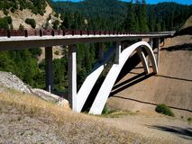 Bridge highway concrete abutment quincy california Royalty Free Stock Photos