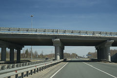 The bridge on the highway. Stock Photography