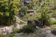 Bridge in the Himalayas Stock Photos