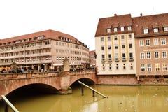 Bridge. Historic bridge in the center of Nuremberg Stock Photos