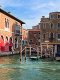 Bridge and Historical Building Facade in Venice, Italy Stock Images