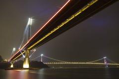 Bridge in Hong Kong. It is beautiful night scenes of Bridge in Hong Kong Stock Image
