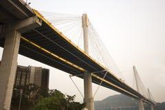 Bridge in Hong Kong. It is beautiful morning scenes of bridge in Hong Kong Royalty Free Stock Photography