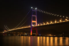 bridge in Hong Kong at Night Royalty Free Stock Image