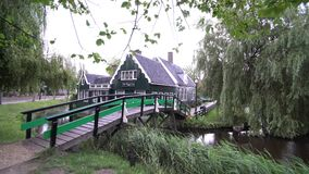 Bridge and house stock video footage