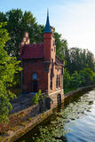 Bridge house. Kaliningrad earlier Kenigsberg Royalty Free Stock Photography