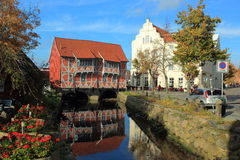 Bridge house in Wismar Royalty Free Stock Photo