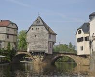 Bridge Houses Royalty Free Stock Photography