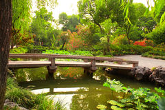 Bridge in Humble Administrator's Garden in Suzhou, China Royalty Free Stock Images