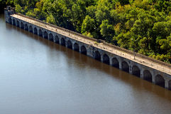 Bridge of Hydroelectric power station Royalty Free Stock Images