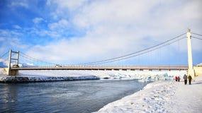 The bridge on the iceberg royalty free stock photos