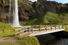 Bridge in Iceland Stock Images