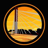 A bridge icon of Bandung City, west java, Indonesia stock illustration