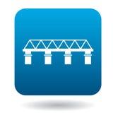 Bridge icon in simple style Stock Image