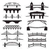 Bridge Icons Set Stock Photos
