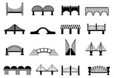 Bridge icons set Royalty Free Stock Image