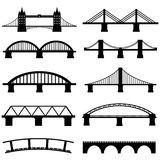 Bridge Icons Set. Isolated Bridge Icons Set Vector Simple Black