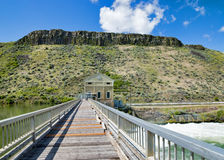 Bridge and Idaho Diversion Dam Poswer station Royalty Free Stock Photography
