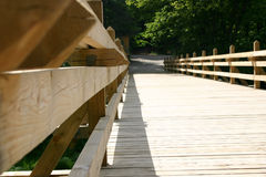 Bridge II. A bridge over the river in the park, detailed Royalty Free Stock Images