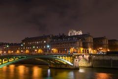 Bridge from Ile de la Cite in Paris Stock Image