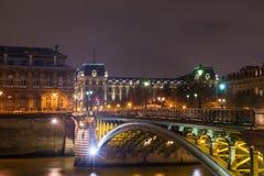 Bridge from Ile de la Cite in Paris Royalty Free Stock Images