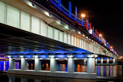 Bridge Illuminated Stock Image