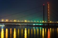 bridge illuminated Στοκ Φωτογραφίες