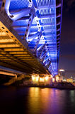 Bridge with Illuminated close up Royalty Free Stock Photography