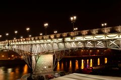Bridge with illumination Royalty Free Stock Photos