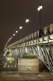 Bridge with illumination Royalty Free Stock Images