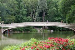 The Bridge. Illustrated bow bridge at NYC Central Park Royalty Free Stock Photography