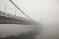 Bridge Im Moscow In A Smoky August Day Royalty Free Stock Photos
