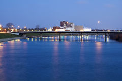 Bridge in Indianapolis. Indiana. Seen before sunrise royalty free stock photography