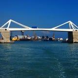 Bridge & industrial port royalty free stock images