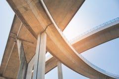 Bridge of Industrial Rings or Bhumibol Bridge is concrete highway road junction and interchange overpass. Bridge of Industrial Rings or Bhumibol Bridge is Royalty Free Stock Photography