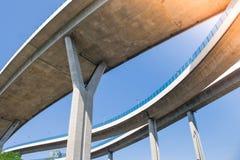 Bridge of Industrial Rings or Bhumibol Bridge is concrete highway road junction and interchange overpass. Bridge of Industrial Rings or Bhumibol Bridge is Stock Images