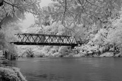 Bridge in infrared Royalty Free Stock Photos