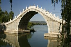 Bridge Inside the Summer Palace Grounds Stock Images
