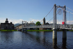 Bridge in Inverness, Scotland Royalty Free Stock Photography