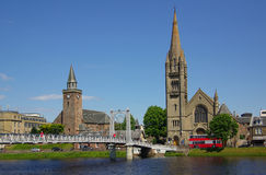 Bridge in Inverness, Scotland Royalty Free Stock Photos